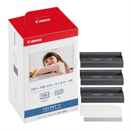 Canon KP-108IN/IP papper/färgband 3x36-pack för Selphy