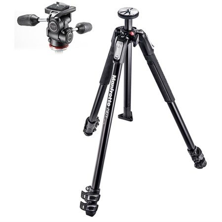Manfrotto Stativkit 190X3 med 804RC2