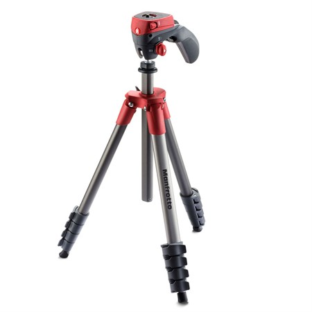 Manfrotto Stativkit Compact Action Röd